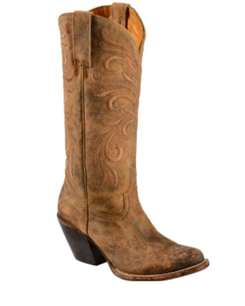 LUCCHESE VINTAGE FLORAL EMBROIDERED