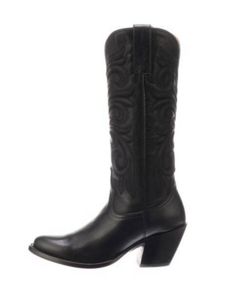 LUCCHESE BLACK ON BLACK EMBROIDERED