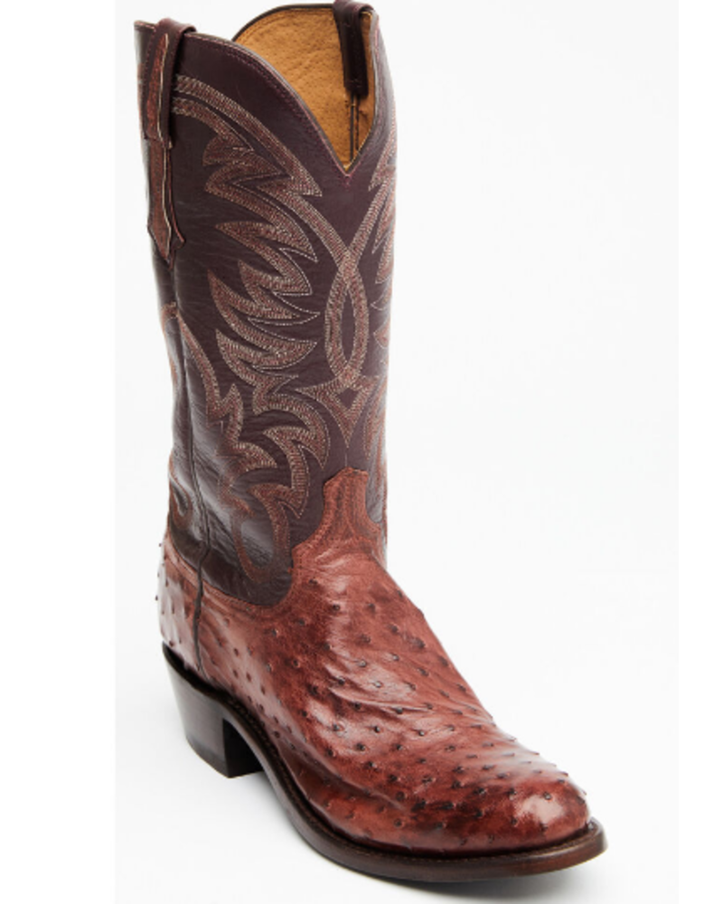 LUCCHESE HUGO FULL QUILL OSTRICH
