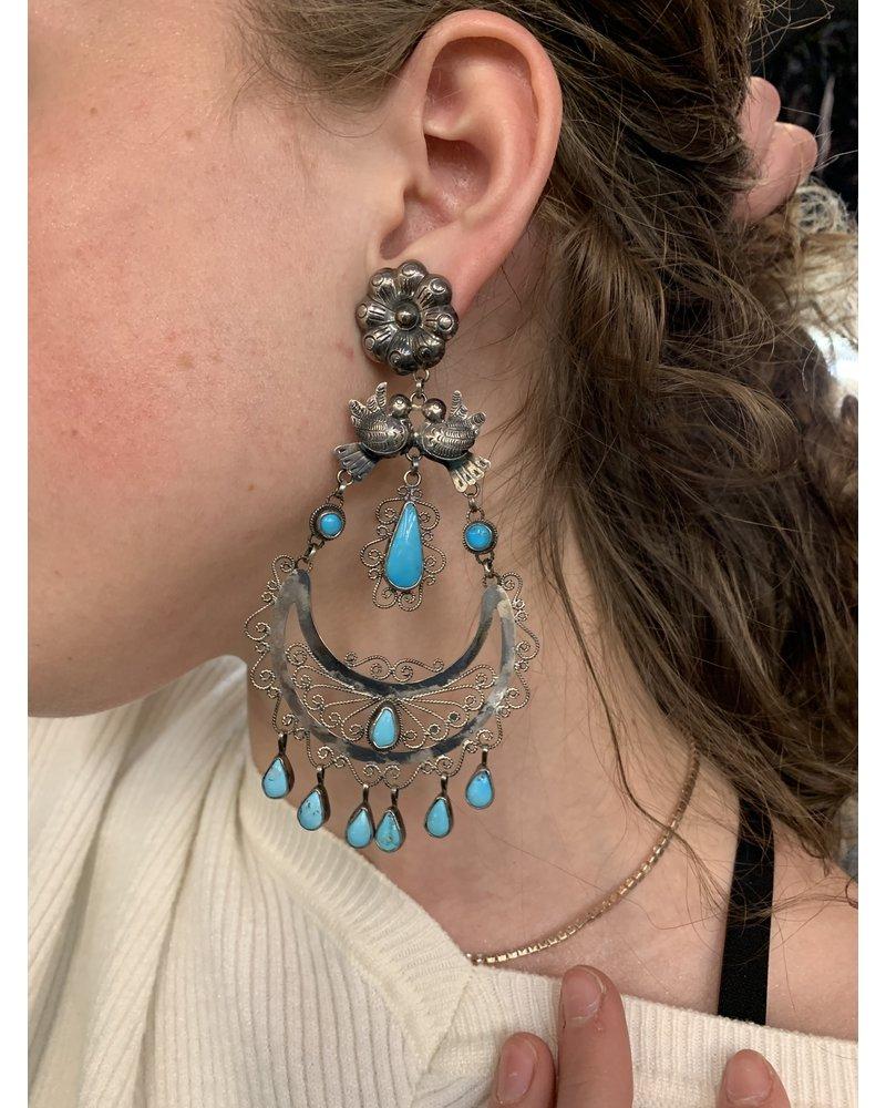 FEDERICO TURQUOISE CHANDELIER EARRINGS
