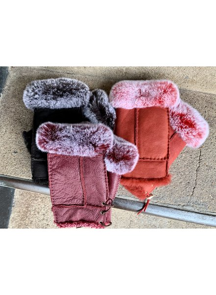 MORRIS KAYE FINGERLESS FUR GLOVES