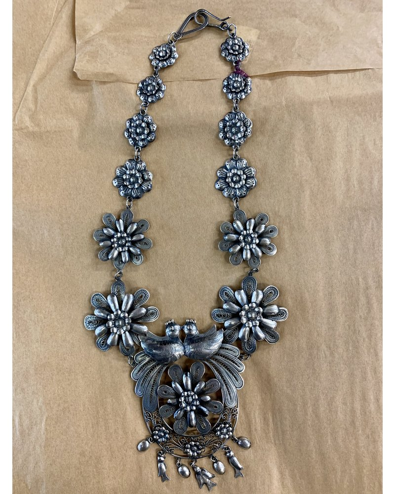 FEDERICO FLORAL STERLING SILVER NECKLACE
