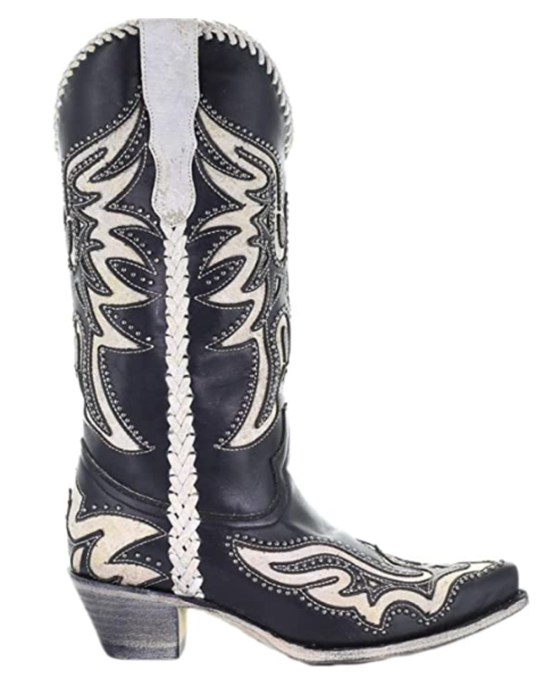 INLAY WITH  STUDS BOOTS
