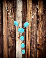 SILVER STAR JEWELRY TURQUOISE STERLING SILVER  Y-NECKLACE