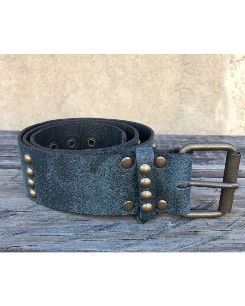 JUAN ANTONIO LEATHER BELT WITH STUDS