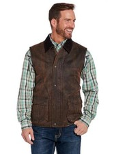 CRIPPLE CREEK ENZYME WASHED VEST WITH CONCEALED CARRY POCKET