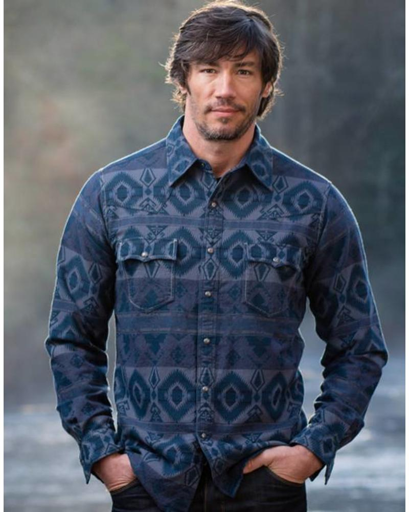 RYAN MICHAEL JAQUARD BLANKET PRINT SHIRT