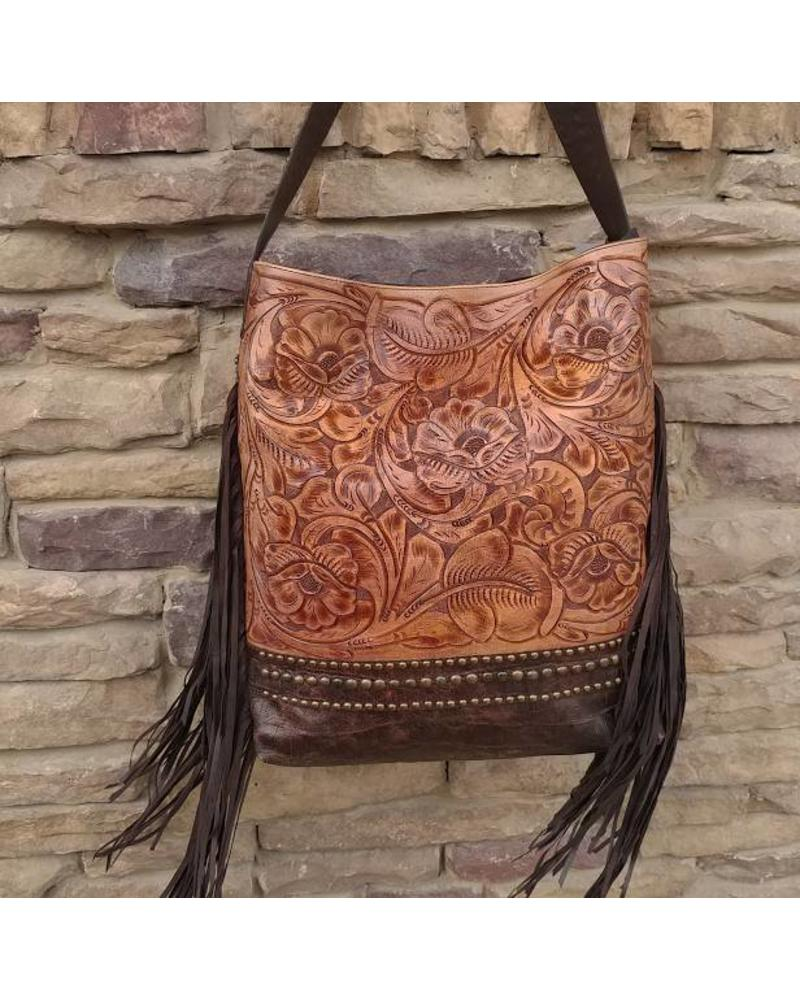 JUAN ANTONIO BROWN  TOOLED TOTE