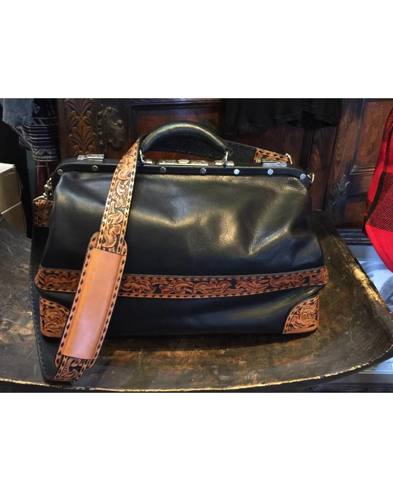Vintage Doctor S Bag With Hand Tooling