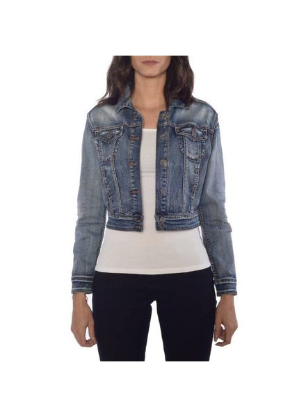 RUBBERBAND STRETCH VIVIENNE STRETCH JEAN JACKET
