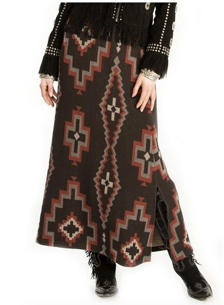 DOUBLE D RANCHWEAR CROSS CANYON BLANKET SKIRT