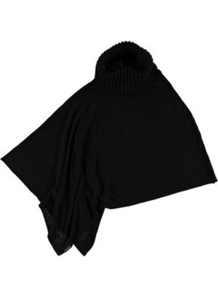 FRAAS BLACK PONCHO IN VISCOSE BLEND