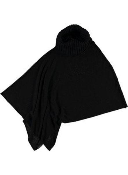 FRAAS BLACK PONCHO IN VISCOSE BLEND