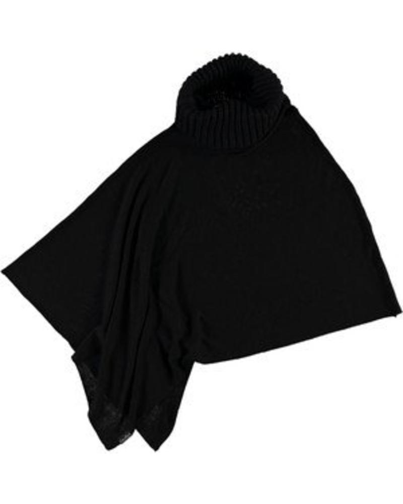 FRAAS BLACK PONCHO IN VISCOSE BLEND BY FRAAS
