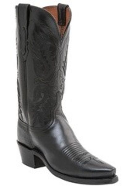 LUCCHESE AMELIA BLACK LEATHER BOOT BY LUCCHESE