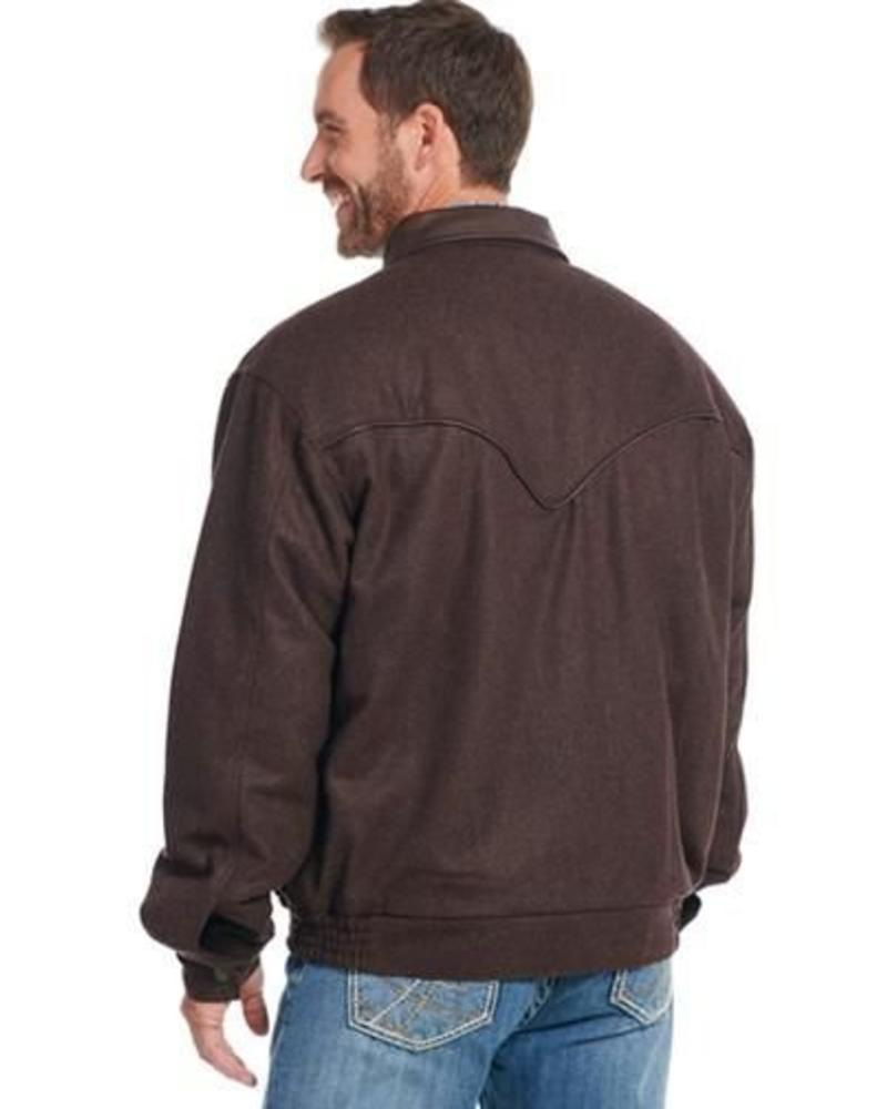 CRIPPLE CREEK MENS MELTON WOOL JACKET FROM CRIPPLE CREEK IN BROWN AND BLACK