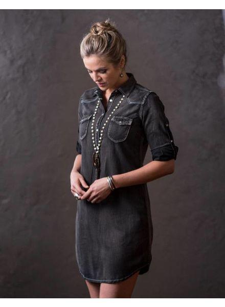 RYAN MICHAEL BLACK DENIM DRESS