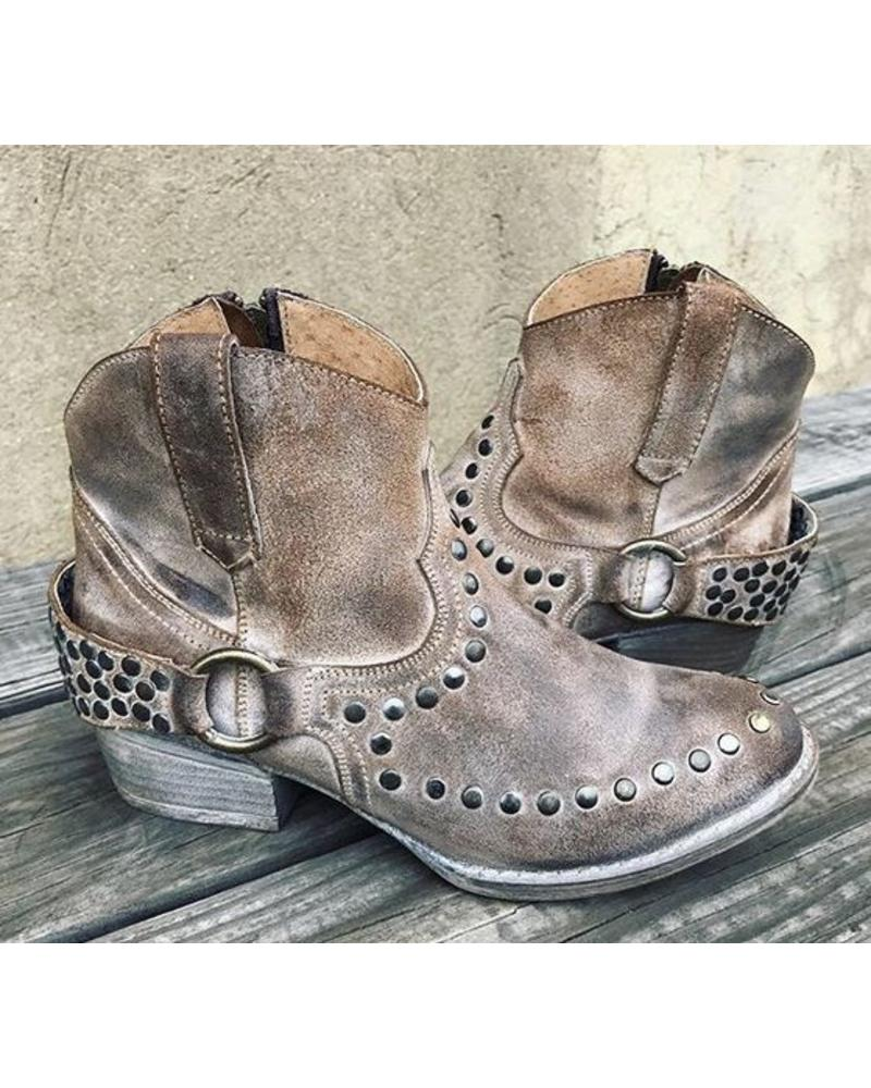 HARNESS BOOTIE WITH STUDS
