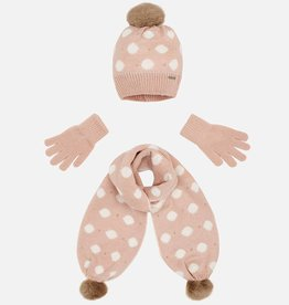 Polka Dot Hat, Scarf & Glove Set