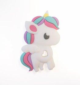 Single Silicone Teether - Rainbow Unicorn
