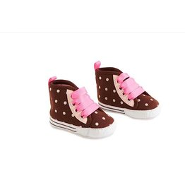 Pink/Brown Polka Dot Girls Shoes