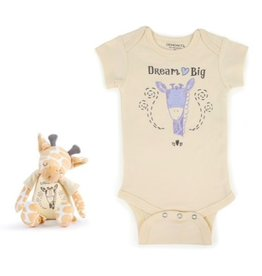 Dream Big Giraffe SnuggleBuddy Onesie & Plush Toy Set