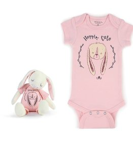 Hoppin' Cute Bunny SnuggleBuddy Onesie & Plush Toy Set