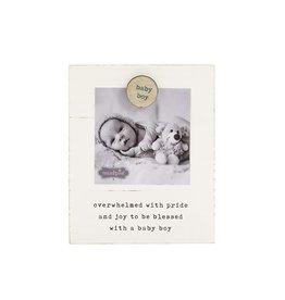 Baby Boy Magnetic Wood Frame