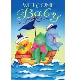 "Welcome Baby Mini Flag, 12"" x 18"""