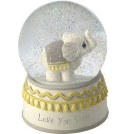 "Precious Moments ""Love You Tons"" Elephant Musical Snow Globe, Resin/Glass"