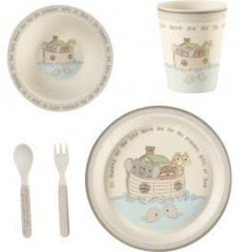 Precious Moments 5-Piece Noah's Ark Mealtime Gift Set, Bamboo