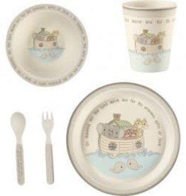 Precious Moments 5-Piece Noah's Ark Mealtime Gift Set, Bamboo