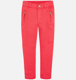 Mayoral Coral Skinny Stitch Pants, 4 Years