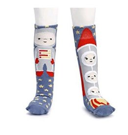 Story Time Knee Socks Astronaut & Rocket Ship