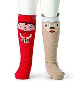 Story Time Knee Socks Red Riding Hood & Wolf