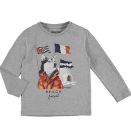 Mayoral Husky Long Sleeve T-Shirt (Grey) 4 Years