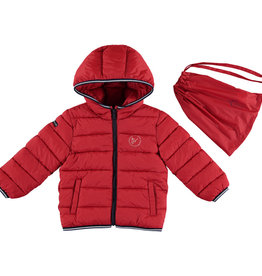 Mayoral Padded Coat with Hoodie (Red) 4 Years