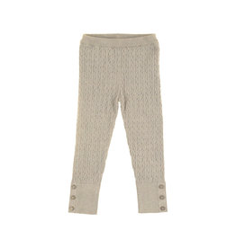 Cable Knit Leggings (Beige) 6 Years