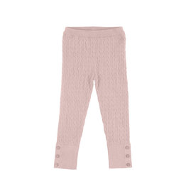 Cable Knit Leggings (Pink) 6 Years