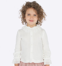 Mayoral Blouse With Chiffon Neck (3 Years) White
