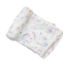 Angel Dear Celestial Pink Bamboo Swaddle Blanket