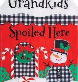 "Grandkids Spoiled Applique Mini Flag, 12"" x 18"""