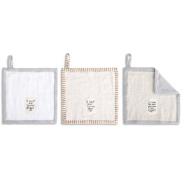 I Love You Terry Washcloth, Set of 3