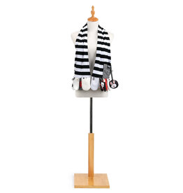 Mommy & Me Activity Scarf - Black & White