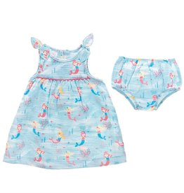 Mermaid Muslin Dress Set