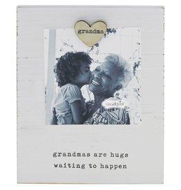 Grandma Heart Magnet Wood Frame