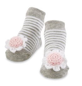 Mud Pie Flower Rattle Toe Socks, 0-12 Months