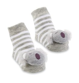Koala Rattle Toe Socks, 0-12 Months
