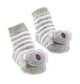 Koala Rattle Toe Socks, 0-12 Months