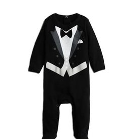Wedding Tux Footsie Black